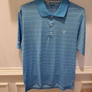 Mens Blue and white polo
